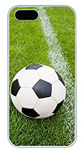 Ball Soccer On the Line DIY Hard Shell White Best Personality iphone 5/5s Case