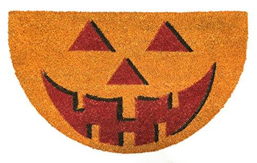 Natural Coir Coco Fiber Non-Slip Outdoor/Indoor Halloween Doormat, 18x30
