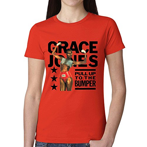 Grace Jones Pull Up To The Bumper Remix Woman's T shirt Red