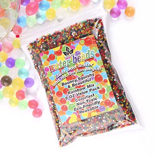 AINOLWAY 8oz Water Gel Beads Rainbow Mix Jelly