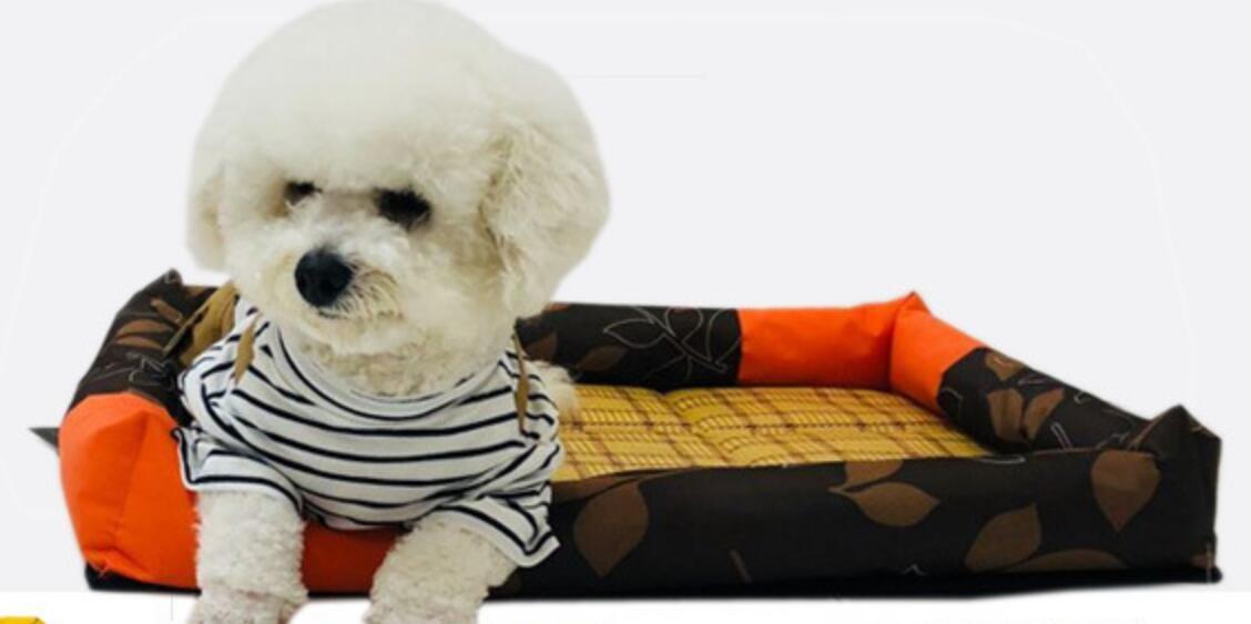 Enzhe Pet Design Incantevole Letto Comfort per Cani Traspirante Raffreddonnato per Animali Domestici Raffreddatore per Animali Domestici Materassino refrigerante per Animali Domestici (Nero, L)