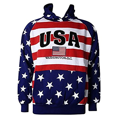 (Washington DC USA American Flag Sweatshirt)