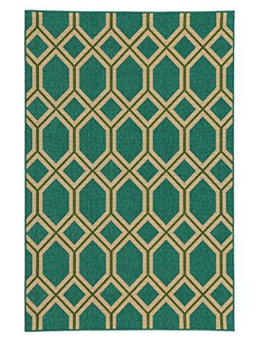 Tommy Bahama Seaside 7.10 X 10.10 Indoor/Outdoor Rug By Oriental Weavers - Teal & Green