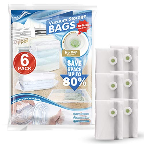 Frosted White Bag - Hi Storage Vacuum Saver Storage Bags Clear Frosted Space Saving Bags |6 Pack 31