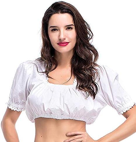 Munich Oktoberfest V Top, Traje de Estilo Nacional Tinte Camisa Blanca Traje Nacional bávaro - Blanco: Amazon.es: Deportes y aire libre