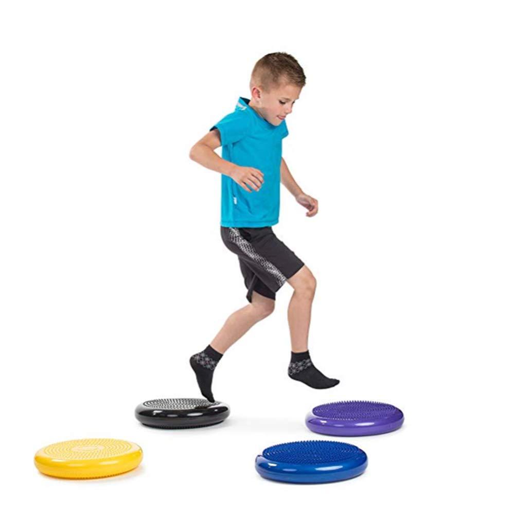 Disque d/équilibre Extra /épais si/ège Perruque pour Enfants sensoriels Violet Lin XH Coussin gonfl/é de stabilit/é avec Pompe si/ège Flexible pour Salle de Classe