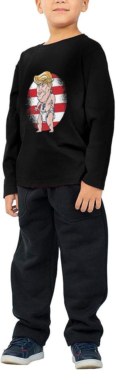 Baby Trump Childrens Long Sleeve T-Shirt Boys Cotton Tee Tops