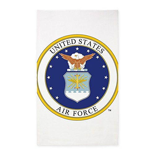 (CafePress US Air Force Decorative Area Rug, Fabric Throw)