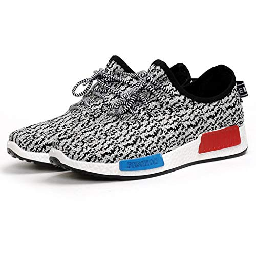 SUNyongsh Men's Comfortable Sneakers Leisure Mesh Beathing Athletic Running Sport Sneakers Shoes Black ()