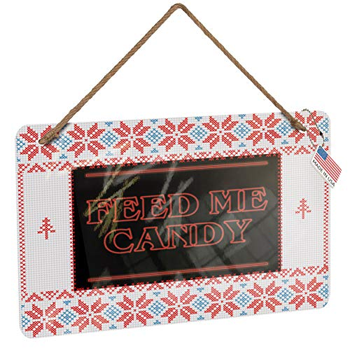 NEONBLOND Metal Sign Feed Me Candy Halloween Strange
