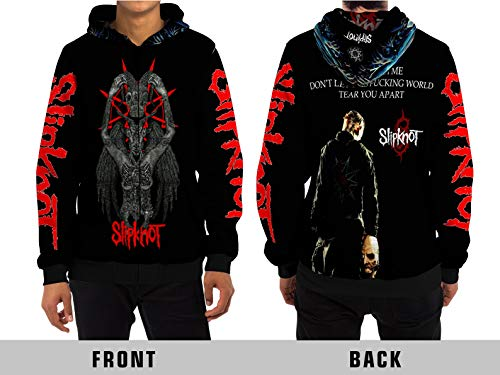 Demonic Slipknot (Prepare for Hell) Hip Metal Rock Band All Over Sublimation Print (Large, Zipper Hoodie) ()