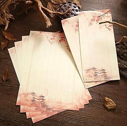 Dylandy - Sobre de estilo chino para escribir cartas y ...