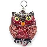MOREFUN Owl Leather Mini Coin Purse Zipper Bag Keychain Animal Wallet Strap Pouch 01
