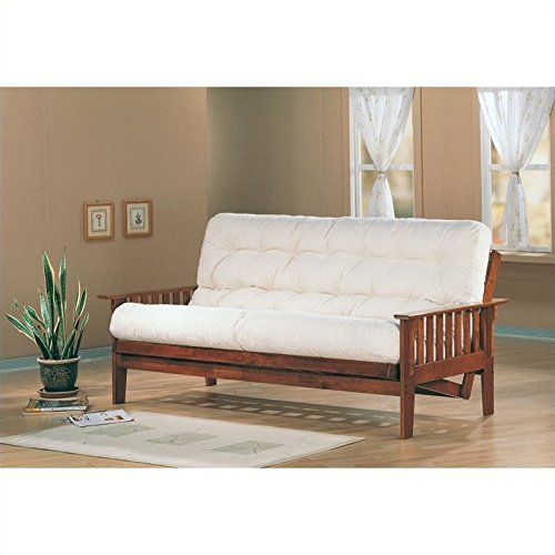 Coaster Traditional Dirty Oak Futon Frame with Slat Side Detail
