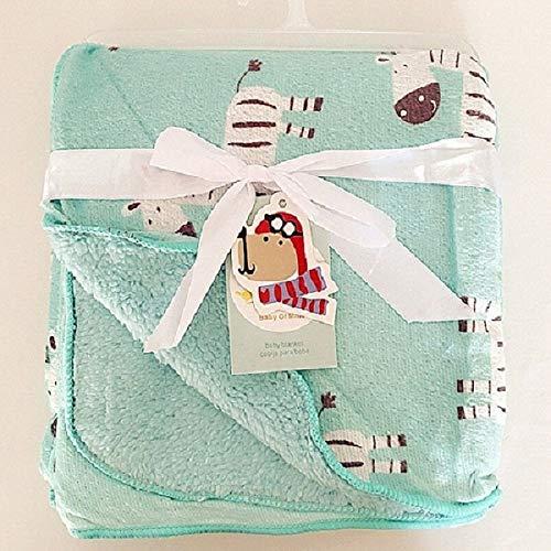 Baby Blanket Double Layer Fleece Infant Swaddle Envelope Wrap Stroller Newborn
