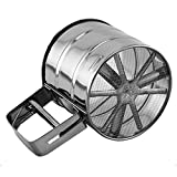 Stainless Steel Mesh Sugar Coffee Flour Shaker Sifter Sieve Tool Cup