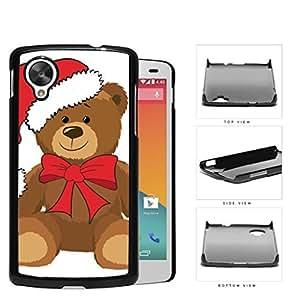 Christmas Themed Teddy Bear Hard Plastic Snap On Cell Phone Case LG Nexus 5