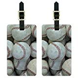 Graphics & More Baseball Balls Luggage Tags Suitcase Carry-on Id, White