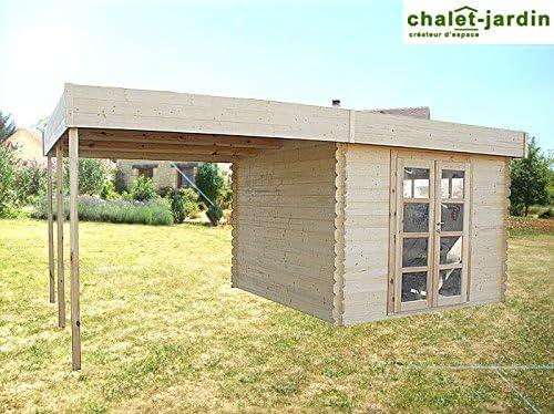 Chalet de madera, diseño contemporáneo pérgola 17, 91 L603XP319xH217 m²: Amazon.es: Jardín