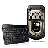 BoxWave Kyocera DuraTR Keyboard, [SlimKeys Bluetooth Keyboard] Portable Keyboard with Integrated Commands for Kyocera DuraTR - Jet Black