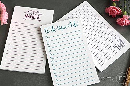 amazon com wedding planning notepad trio set of 3 notepads 50