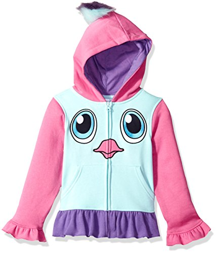 Price comparison product image Hatchimals Girls' Little Costume Hoodie,  Blue Tint,  5 / 6