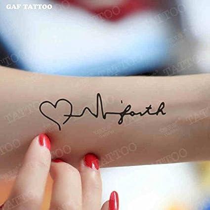 Zokey impermeable tatuaje temporal latido del corazón GFWS393 ...