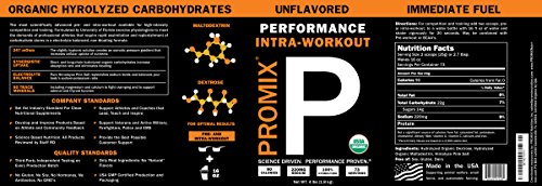 PROMIX #1 ORGANIC: 100% Lean Muscle Fuel / Proven Intra-workout Glycogen Pump Igniter / More Reps+Power / Lean Muscle / 4 LB Bulk-73 svg /Paleo / Gluten-Free / Non-GMO / Vegan / 3rd Party Testing GMP