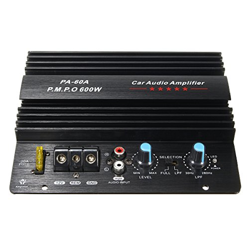 Kungfu Mall 12V 600W High Power Audio Momo Amplifier Board Car Bass Subwoofers Amp PA-60A:
