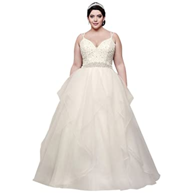 David\'s Bridal Garza Plus Size Wedding Dress with Double ...