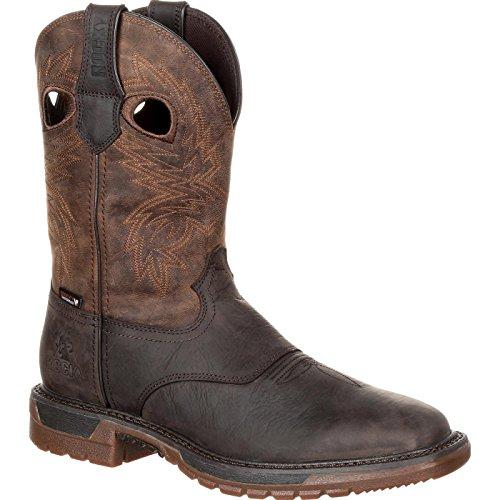 (Rocky Men's Original Ride FLX Western Boot Dark Brown 11 12 Medium US)