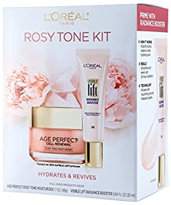 L'Oréal Paris Giftable Kit with Rosy Tone Moisturizer and Visible Lift, Radiance Booster, 1 kit