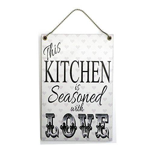 Handmade Wooden ' This Kitchen Is Seasoned With Love ' Sign 154 by Maise & Rose