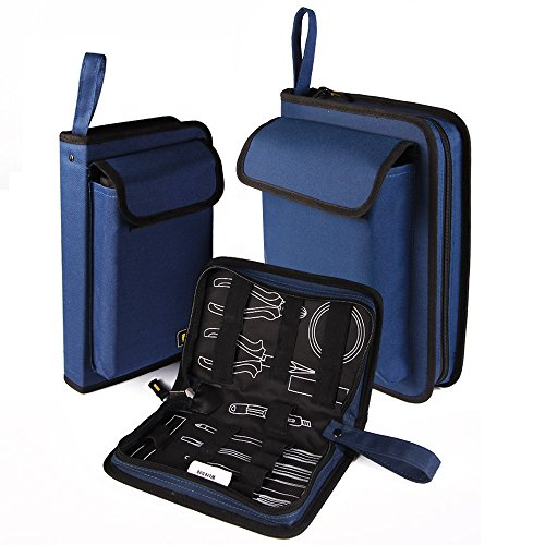 FASITE Portable Tool Zippered Hard Board Case Bag Pouch with Handles Medium