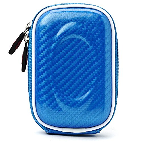 Blue Candy Camera Case - VG Slim Travel Edition Semi Hard Case (Candy Blue EVA) for Sony Cyber-Shot DSC Point & Shoot Compact Digital Cameras