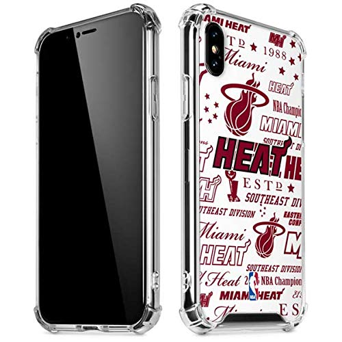 Skinit Miami Heat Historic Blast iPhone Xs Max Clear Case - Officially Licensed NBA Phone Case Clear - Transparent iPhone Xs Max Cover
