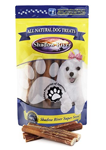 Shadow River 10 Pack 6 Inch Thick All Natural Premium Beef Bully Sticks For Dogs