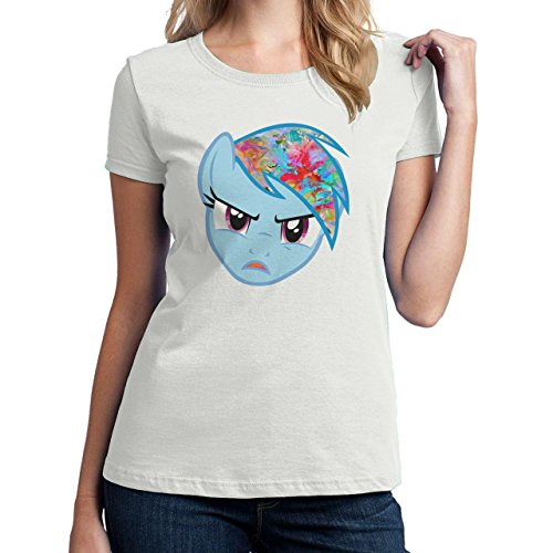 My Little Pony Rainbow Dash Face Floral Haircute.png Damen T-Shirt