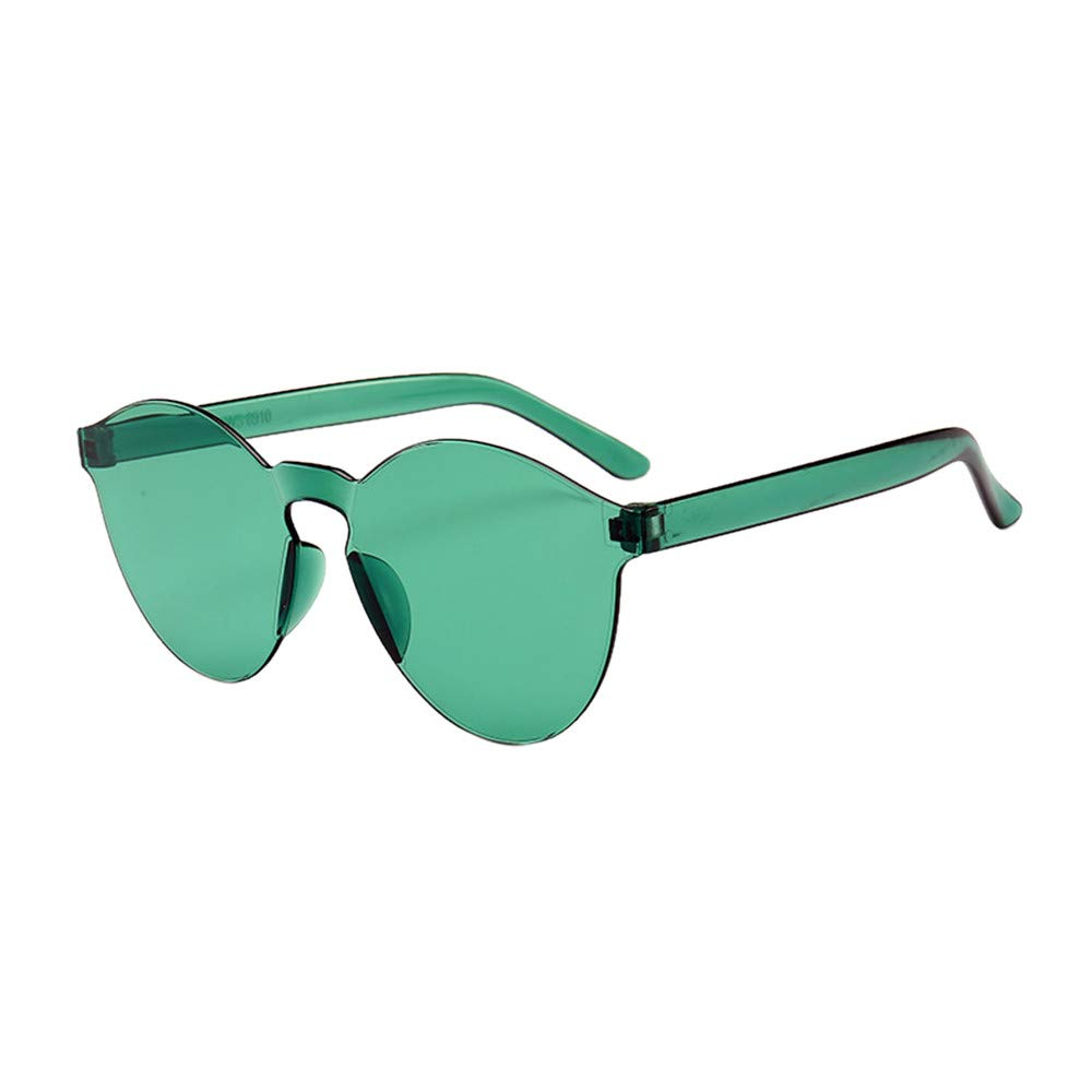 Sunglasses for Women Men, JOYFEEL Retro Clear Lens Frameless Eyewear Lightweight Summer Fashion Outdoor Glasses Green