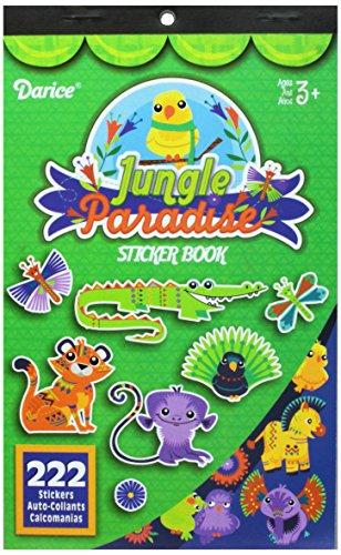 Darice, 222 Sticker, Jungle Paradise Theme Sticker Book