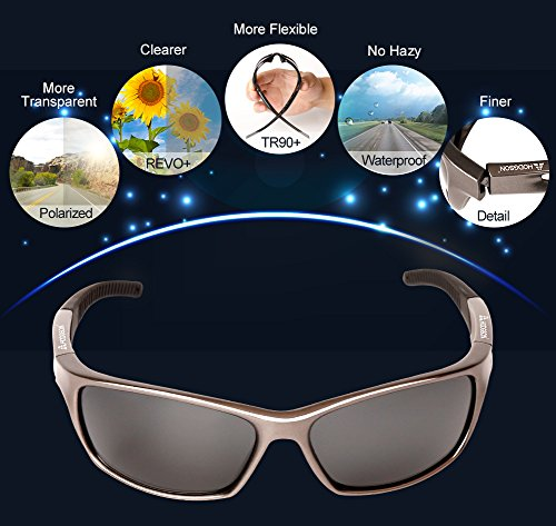 HODGSON Sports Polarized Sunglasses for Men Women, UV400 Protection Unbreakable Sports Glasses for Cycling, Baseball Riding, Driving, Running, Golf and Other Outdoor Activities (Dark Brown) by HODGSON (Image #1)