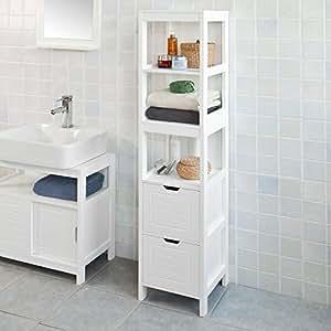 Sobuy mueble columna de ba o armario para ba o 3 for Armarios bano amazon
