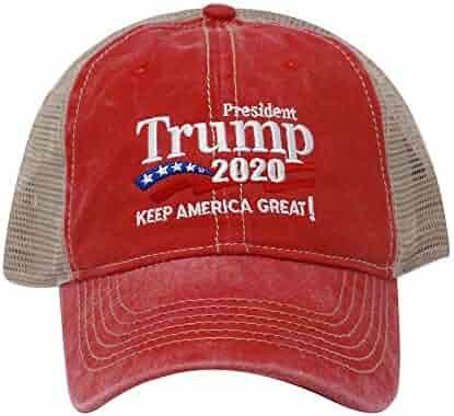 ChoKoLids Trump 2020 Keep America Great Campaign Embroidered USA Hat | Baseball Bucket Trucker Cap