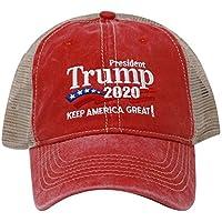 ChoKoLids Trump 2020 Keep America Great Campaign Embroidered USA Hat | Baseball Bucket Trucker Cap Black