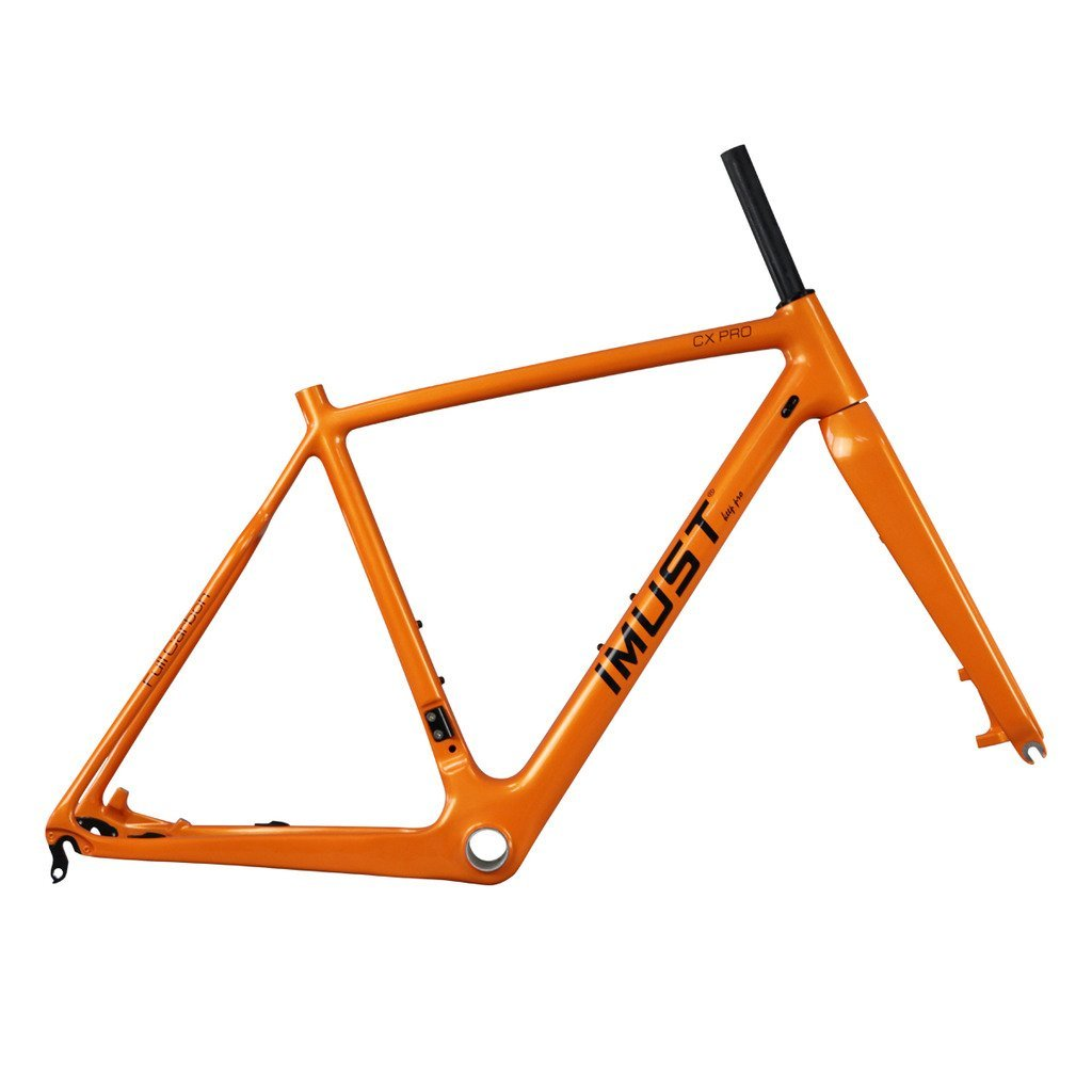 IMUST(アイマシト)カーボン クロスバイク フレーム+フォーク UDマット ディスクブレーキ BB86 DI2 黄色の塗装 AC109 B01GPW8VO8   52cm