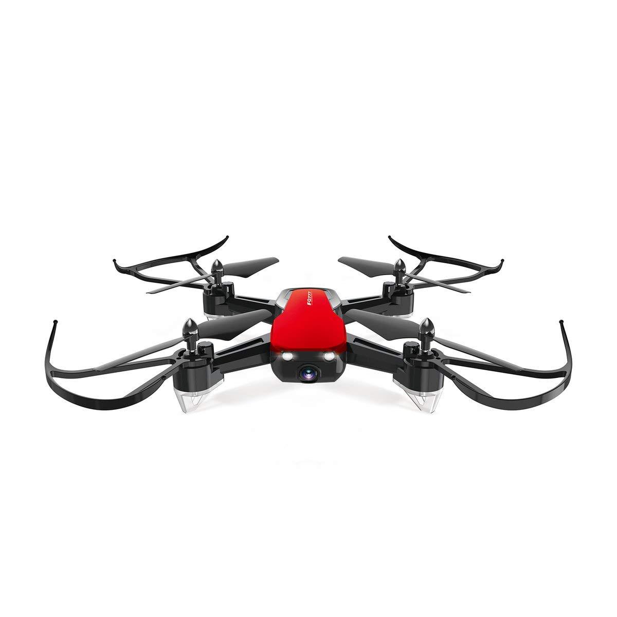 Gugutogo FQ777 FQ40 2.4G Mini WiFi FPV con 480P HD Camera Altitude Hold Mode in Tempo Reale Pieghevole RC Drone Quadcopter RTF Nero Rosso