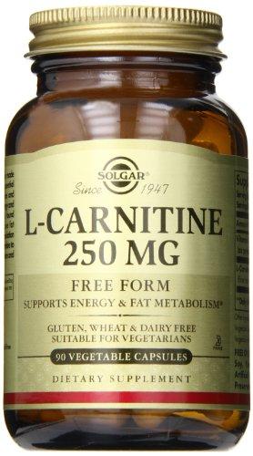 Solgar – L-Carnitine 250 mg, 90 Vegetable Capsules - Acid 250 Mg 90 Caps