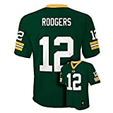Aaron Rodgers Green Bay Packers NFL Kids Green Home Mid-Tier Jersey (Size 5/6)