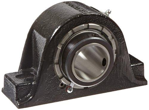 "Link-Belt PB22428H Spherical Roller Bearing Pillow Block, 2 Bolt Holes, Relubricatable, Non-Expansion, Cast Iron, Setscrew Locking Collar, Inch, 1-3/4"" Bore Diameter from Link-Belt"