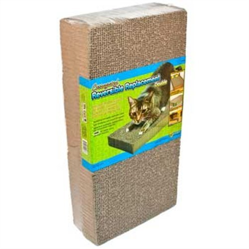 Ware ManufaCounturing CWM12003 2-Pack Corrugated Replacement Scratcher Pads Dbl Wide (Refill Scratcher)